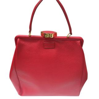 Lulu Guinness Red Lips Closure Top handle Bag