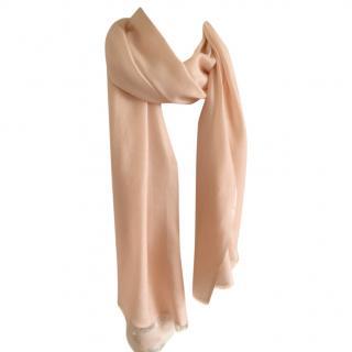 Hugo Boss peach scarf