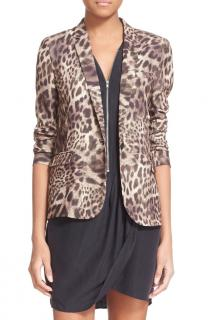 The Kooples Leopard Print Blazer
