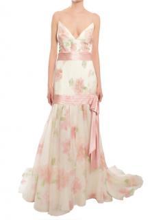Escada Floral Silk Organza Gown