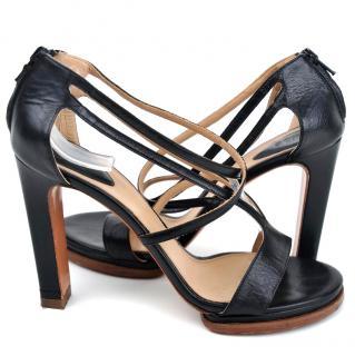 Chloe black leather sandals