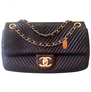 Chanel navy blue flap bag