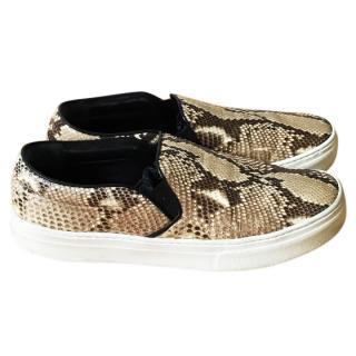 Celine Snakeskin Skater Shoes