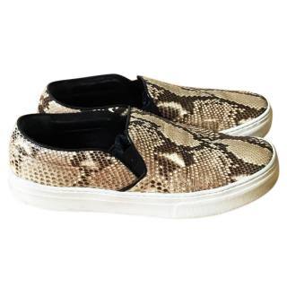 Celine Snakeskin Skater Shoes