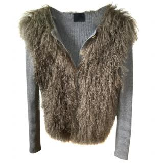 Lanvin Mongolian Fur Cardigan