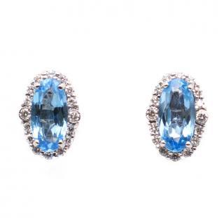 Lister Horsfall Diamond & Topaz Cluster Earrings