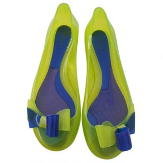 Furla green and blue jelly shoes