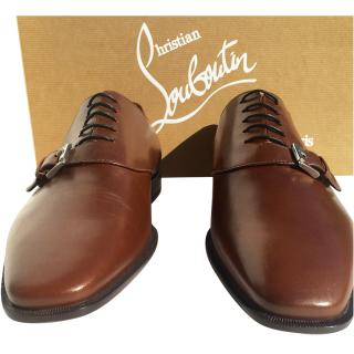 Christian Louboutin Brown leather loafer/brogues