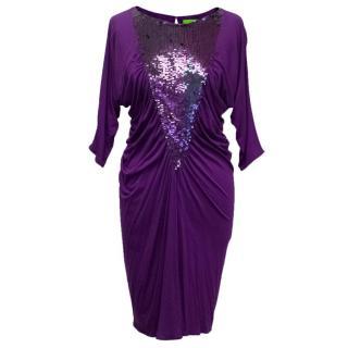Catherine Malandrino Purple Sequin Dress