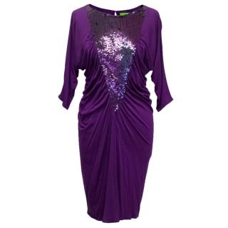 Catherine Malandrino Purple Sequin Dress
