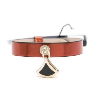Bvlgari Brushed Metallic Orange Diva Bracelet
