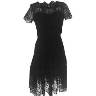 Oscar de la Renta  black lace dresss