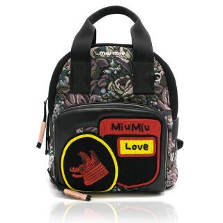 Miu Miu Small Floral Jacquard Backpack