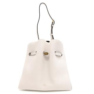 Mulberry White Small Tyndale Leather Bucket Bag