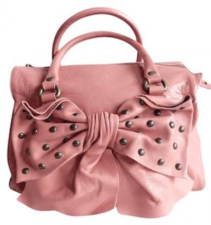 RED VALENTINO Pink Leather Tote