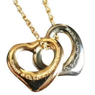 Tiffany & Co 18k 2-Hearts Pendant