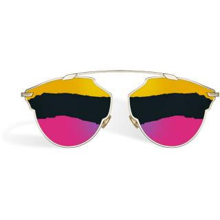 Dior So Real Tri-colour Gold/Fuchsia Sunglasses