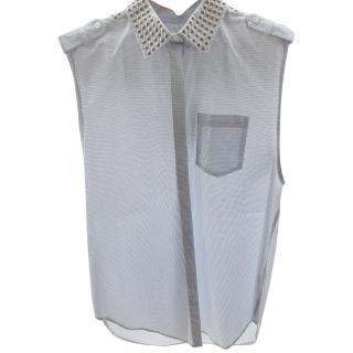 Pierre Balmain studded blouse top 12