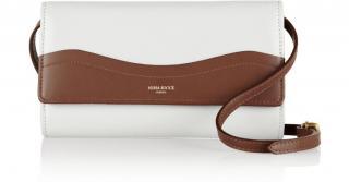 Nina Ricci Two-Tone Leather Shoulder / Clutch Bag