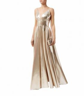 La Mania Gold Lame Gown