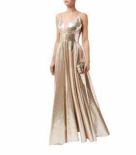 SKY DRAMA RIVIERA La Mania Gold Lame Gown