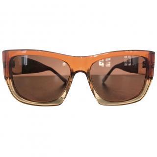 The Row/Linda Farrow Square Frame Sunglasses