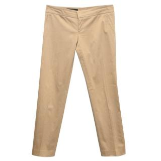 Gucci Tan Straight Leg Trousers