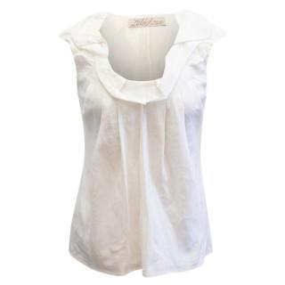 Lela Rose Ivory Frill Neck Shirt