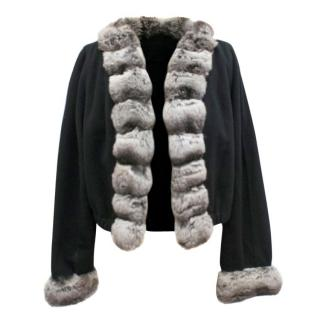 Chinchilla Fur Trim Jacket