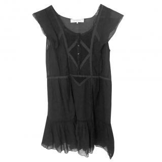 Gerard Darel Black Cotton Dress