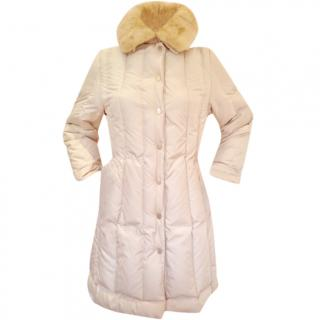 Ferragamo fur trimmed goose feather padded coat