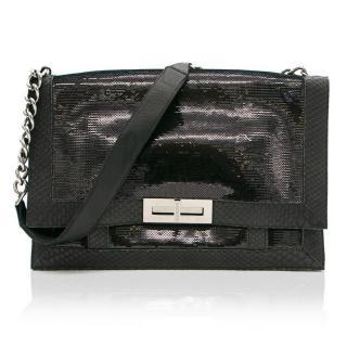 Balmain Black Sequin Shoulder Bag
