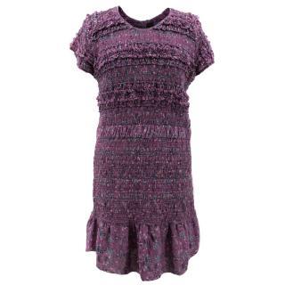 Isabel Marant Purple Silk Patterned Dress