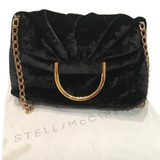 Stella McCartney Nina velvet shoulder bag