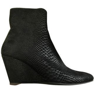 Giuseppe Zanotti Black Wedge Ankle Boots