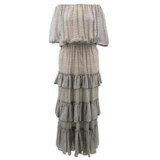 Isabel Marant  Adella ruffled printed silk-georgette dress