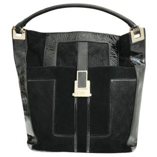 Anya Hindmarch Suede & Patent Leather Tote Bag