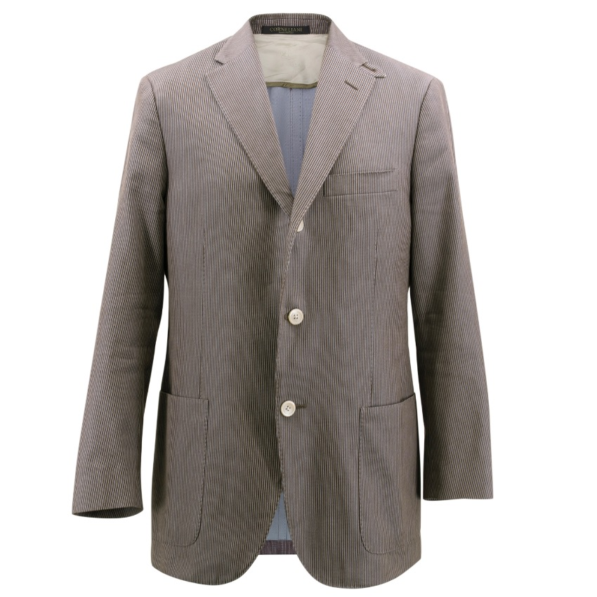 Corneliani Brown Pin Stripe Blazer