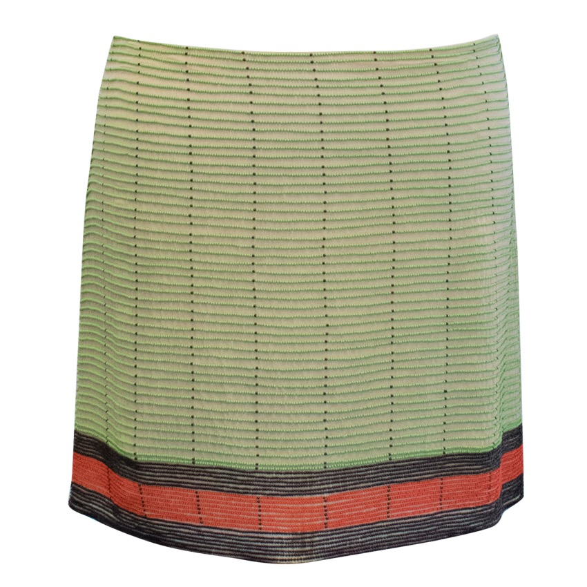 Krizia Multi-coloured Silk Embroidered Skirt