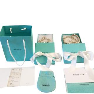 Tiffany & Co Bead Graduated Sterling Silver Necklace & Bracelet Set