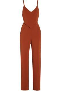 A.L.C Zoe cutout crepe jumpsuit