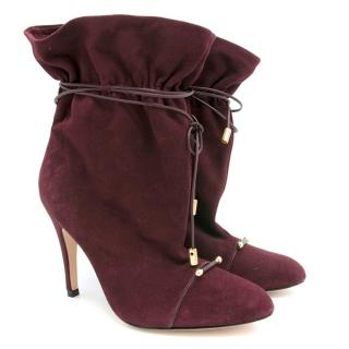 Zimmermann Suede Cherry Slouch Boots