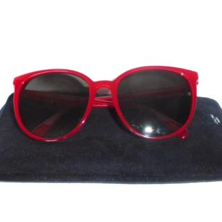 Celine Red Thin Frame Acetate Sunglasses