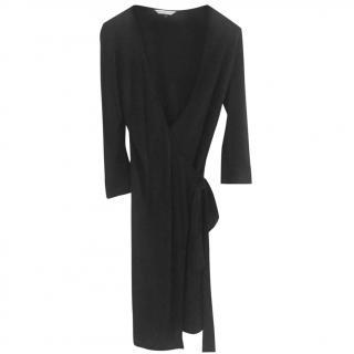 Diane Von Furstenberg Classic Black Jersey Wrap Dress
