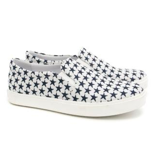 Bonpoint Kids White Star Patterned Loafers