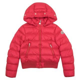 Moncler Kids Pink Puffer Coat