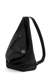 LOEWE Black Calfskin Shoulder Tote Bag