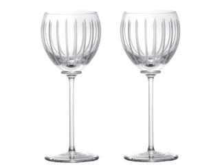 Hermes  Fanfare Crystal Wine Glasses
