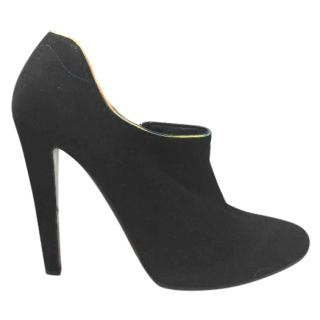 Giorgio Armani Black Suede Shoe Boot