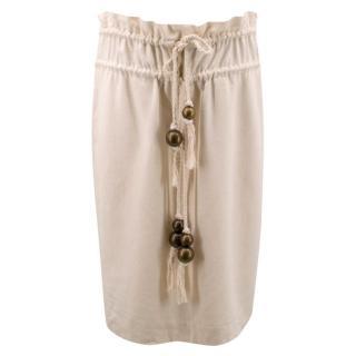 Chloe Beige Mid- Length Skirt